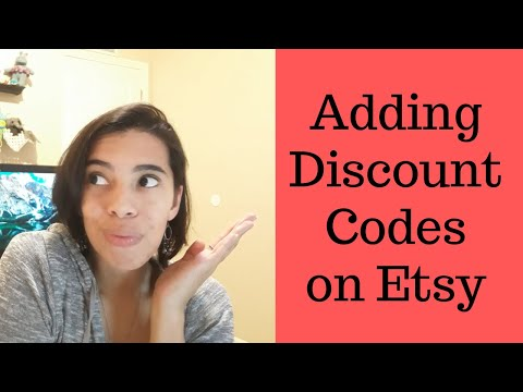 How to add a Discount Code on your Etsy Shop October 2019