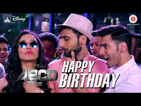 Happy Birthday HD Remix Song  - ABCD 2 | Varun Dhawan & Shraddha Kapoor