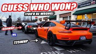 THE RARE PORSCHE GT2RS VS OUR NEWLY TUNED C6 CORVETTE! *WE COULDN'T BELIEVE WHO WON*