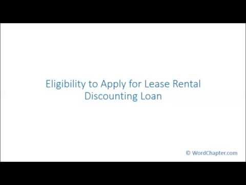 Eligibility to Apply for Lease Rental Discounting Loan