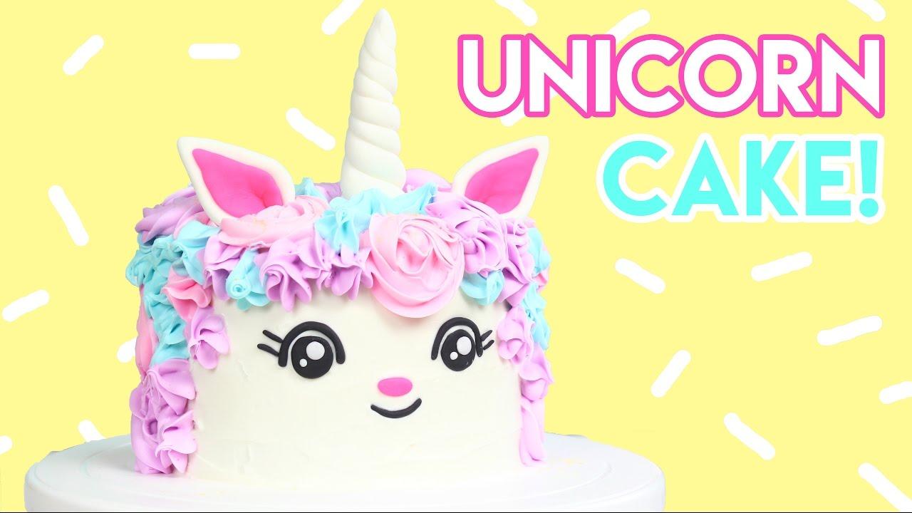 How To Make A Unicorn Cake Youtube