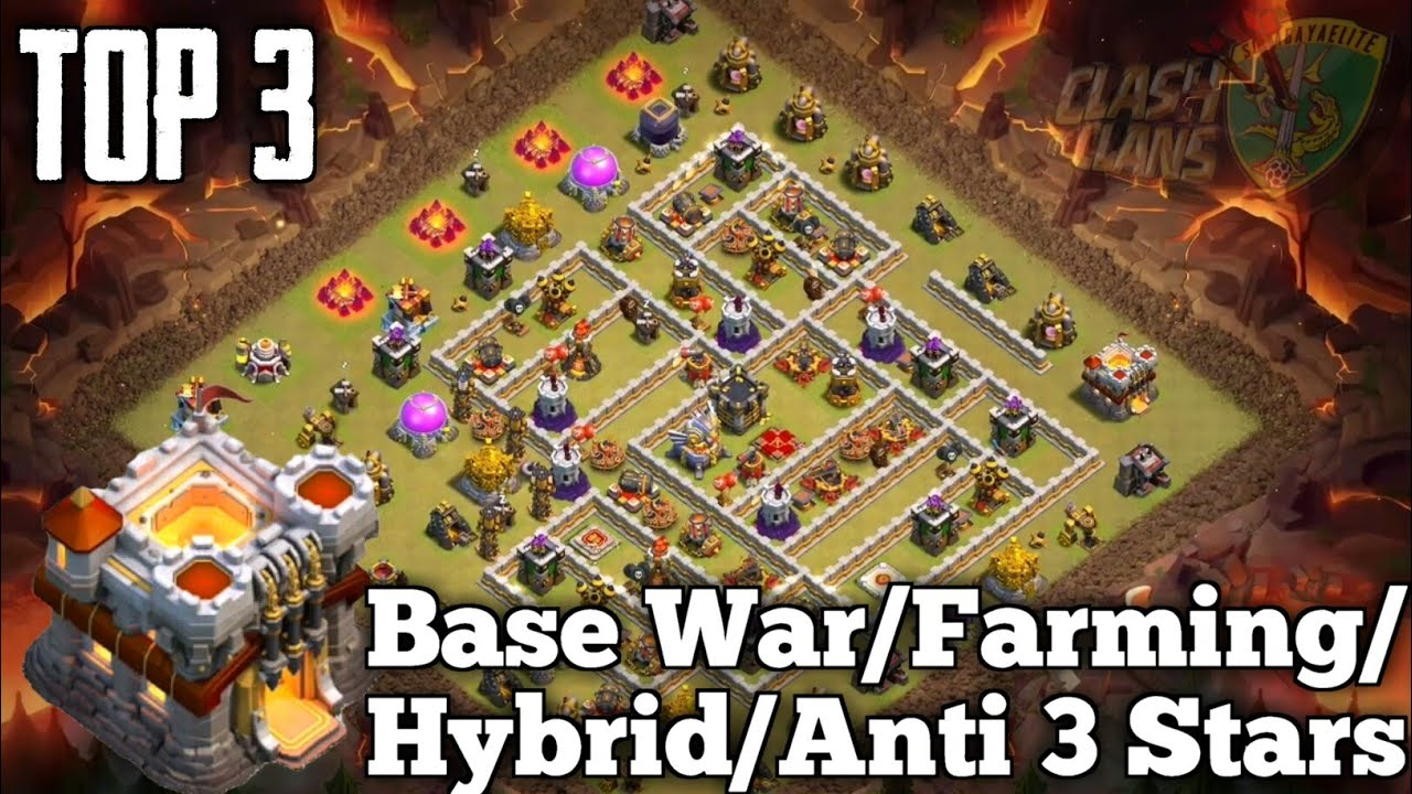 TOP 3 TH11 Anti 3 Star - War Bases 2019 - Anti 3 Stars - Clash Of Clans