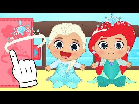 Lily as Disney Princess | Lily transforms into Ariel, Elsa, Rapunzel | Cartoons for kids