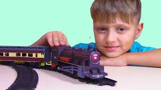 Поезд И Железная Дорога Распаковка И Обзор Поезда Для Детей Самый Длинный Поезд!