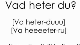 Pronunciation of basic Swedish phrases   Svenskt uttal   Learn Swedish   Swedish2go