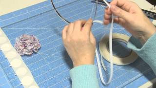 How to line a metal headband with ribbon tutorial