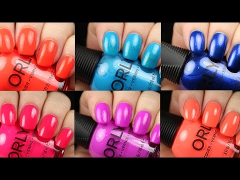 Orly Coastal Crush Summer 2017 | Live Application Review