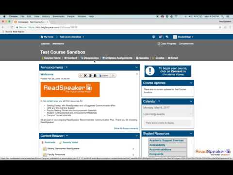 How to use ReadSpeaker TextAid in Brightspace by Desire2Learn (D2L)