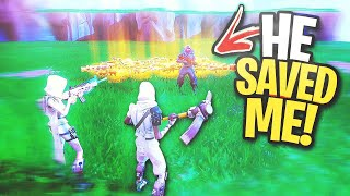 My FRIEND saves me LAST SECOND... 😱 (Scammer Gets Scammed) In Fortnite Save The World