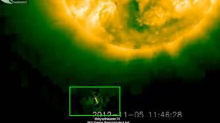 UFO near the Sun - November 5, 2012.