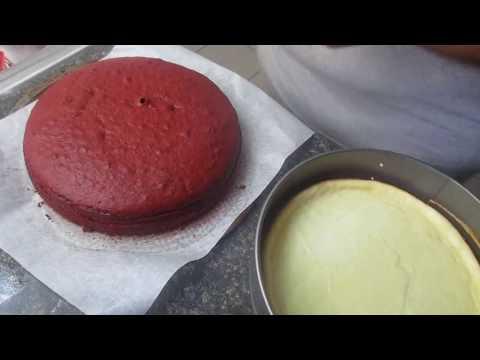 My version Cheesecake Factory Red Velvet Cheesecake