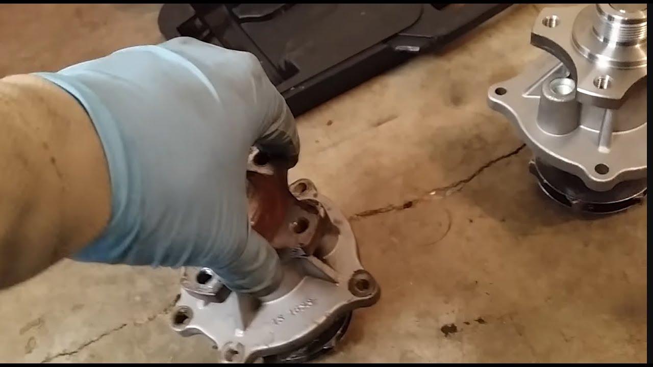 05 Trailblazer waterpump replacement - YouTube