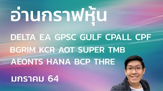 อ่านกราฟหุ้น DELTA EA GPSC GULF CPALL CPF BGRIM KCR AOT SUPER TMB AEONTS HANA BCP THRE