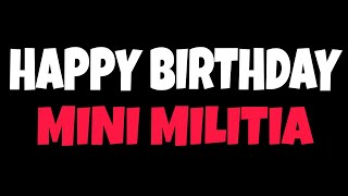 Happy Birthday Minimilitia😍
