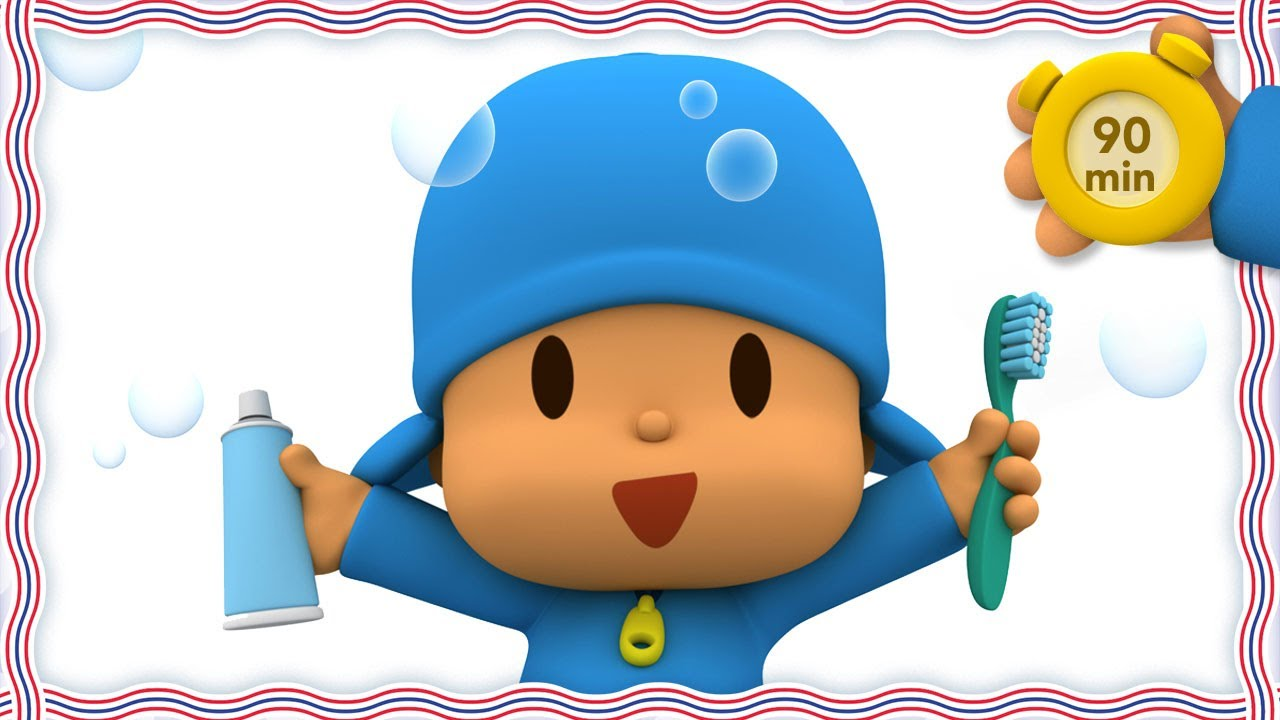 😁 POCOYO AND NINA - Tooth Brushing [90 minutes]   ANIMATED CARTOON for Children   FULL episodes