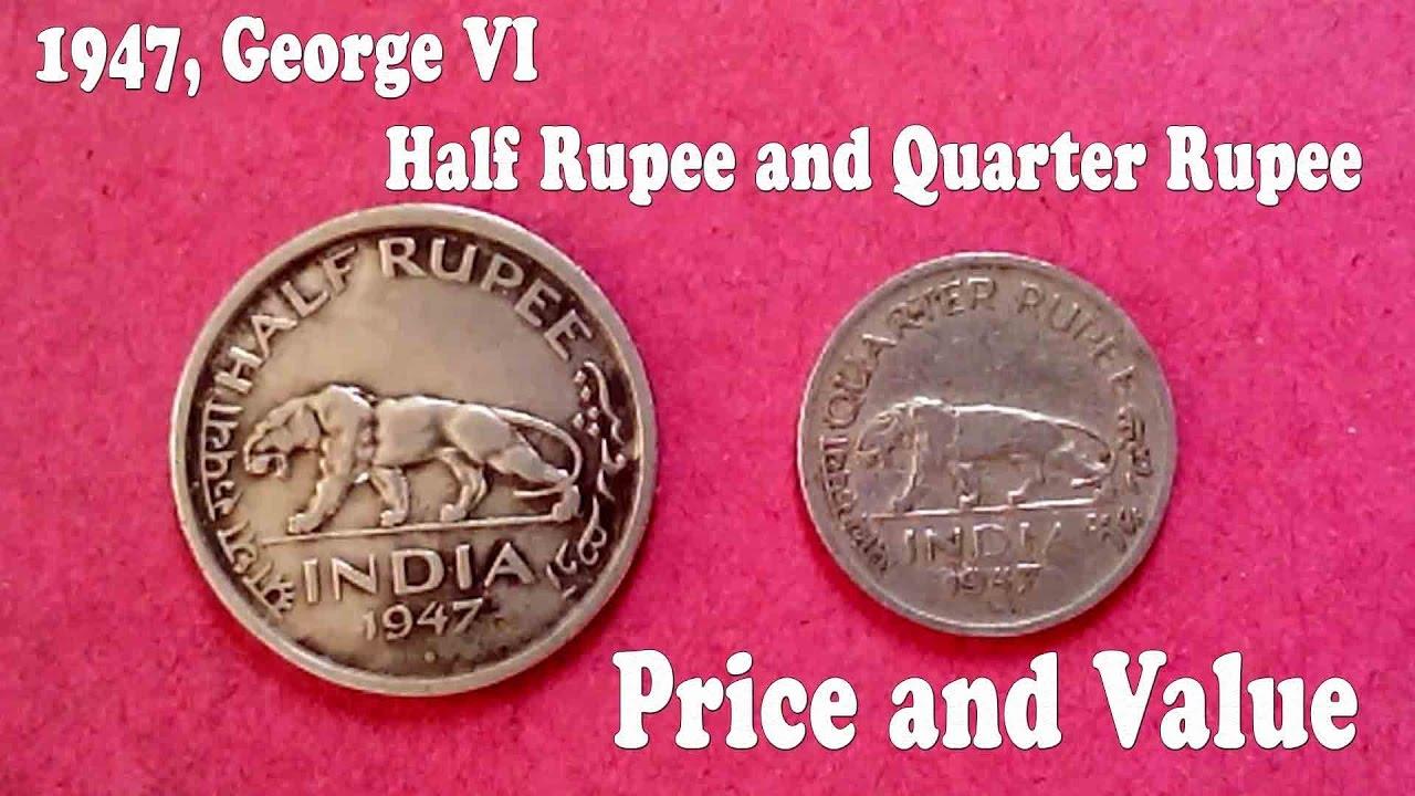 1947 George Vi Half Ru And Quarter Price Value