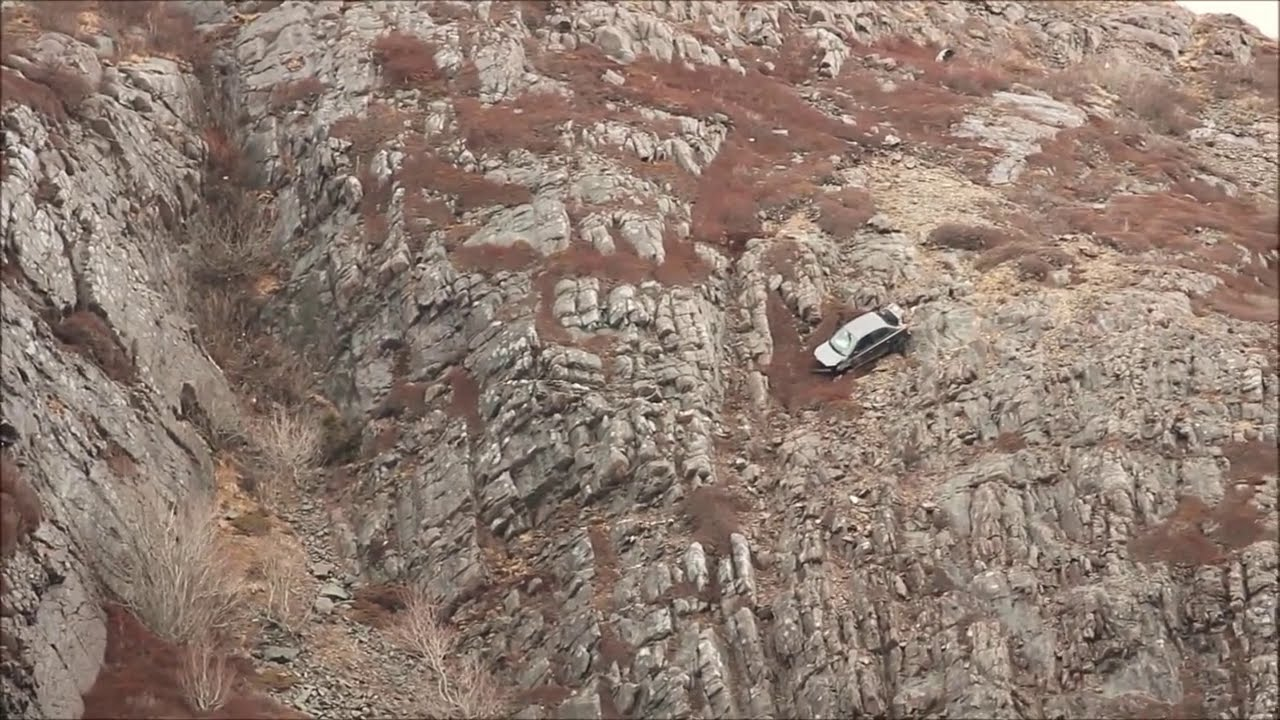 Car Dangles Off Cliff On Signal Hill Sunday April YouTube - Car signal hill