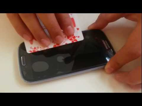 How to Apply a Screen Protector (Dust and Bubble FREE)