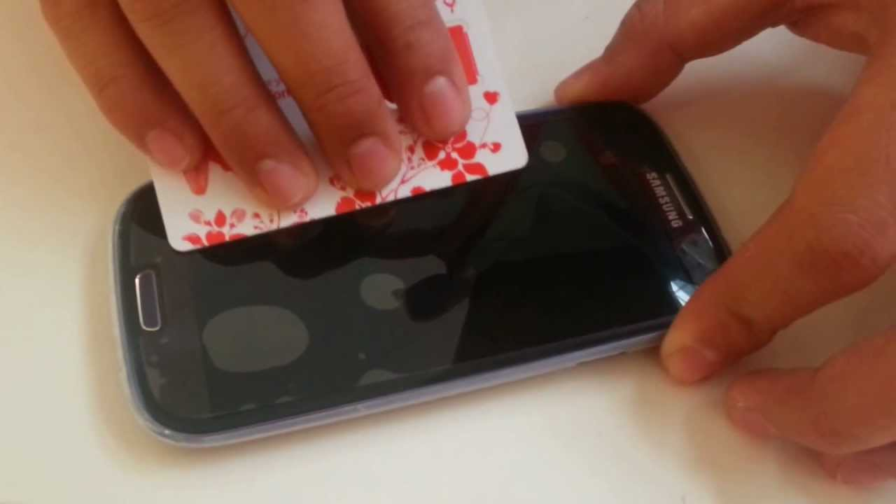 How To Apply A Screen Protector Dust And Bubble FREE