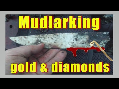 Lucky mucker strikes gold & diamonds mudlarking at an disused pier