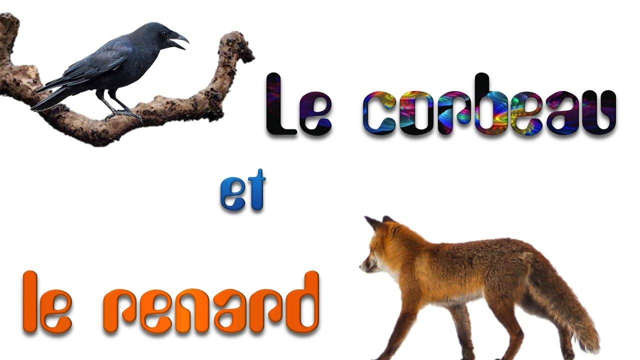 Le corbeau et le renard de jean de la fontaine youtube - Le renard et la cigogne dessin ...