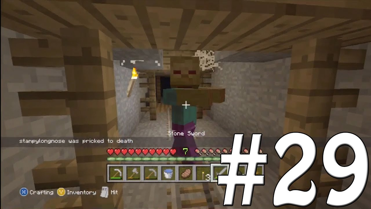 minecraft how to build a mineshaft