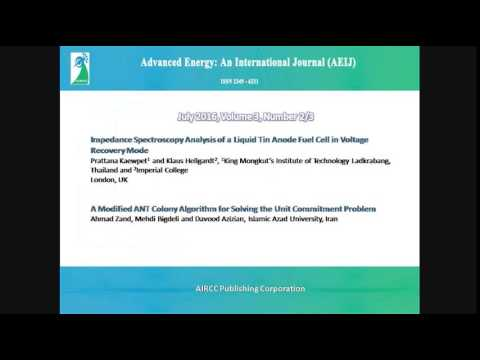 Advanced Energy: An International Journal (AEIJ)