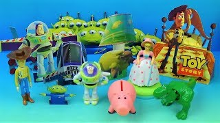 1996 Disney Toy Story set of 5 McDonalds Happy Meal Kids Movie Toys w/Boxes Video Review