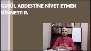 14. Ders; Gusül Abdestinin Sünnetleri Nelerdir?