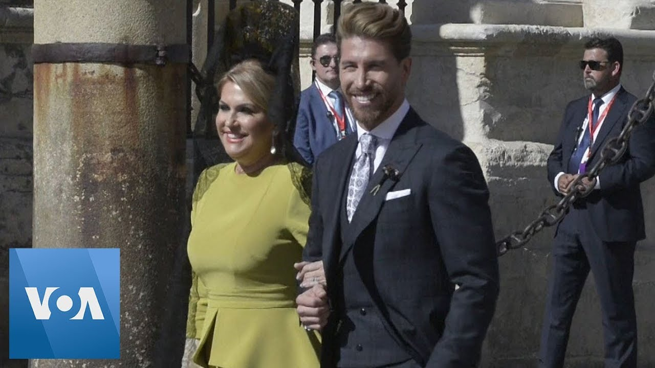 David Beckham Victoria Beckham And Modric Shine At Sergio Ramos Wedding