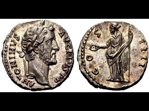 🔝Денарий, 145 г., Монета Древнего Рима, Император АНТОНИН ПИЙ, 🌍 Denarius, 145 AD ✅