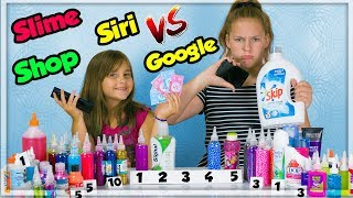 SLIME SHOP | SIRI vs GOOGLE SLIME CHALLENGE !
