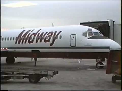 Midway Airlines DC-9's at Midway Airport, Oct., 1991
