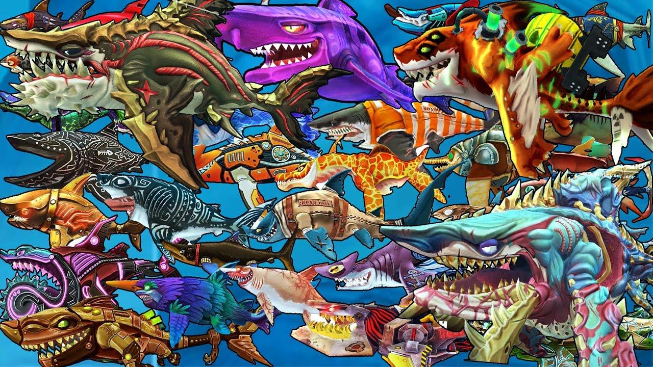 Hungry Shark World - NEW UPDATE - All 33 Sharks & Skins Unlocked 2020 [FHD]