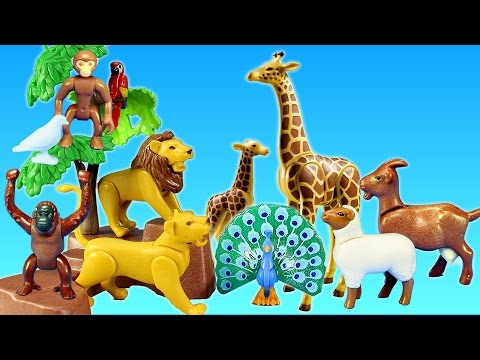 Playmobil City Life Toy Wild Animals Large Zoo │ Children's Petting Zoo Building Sets Videos
