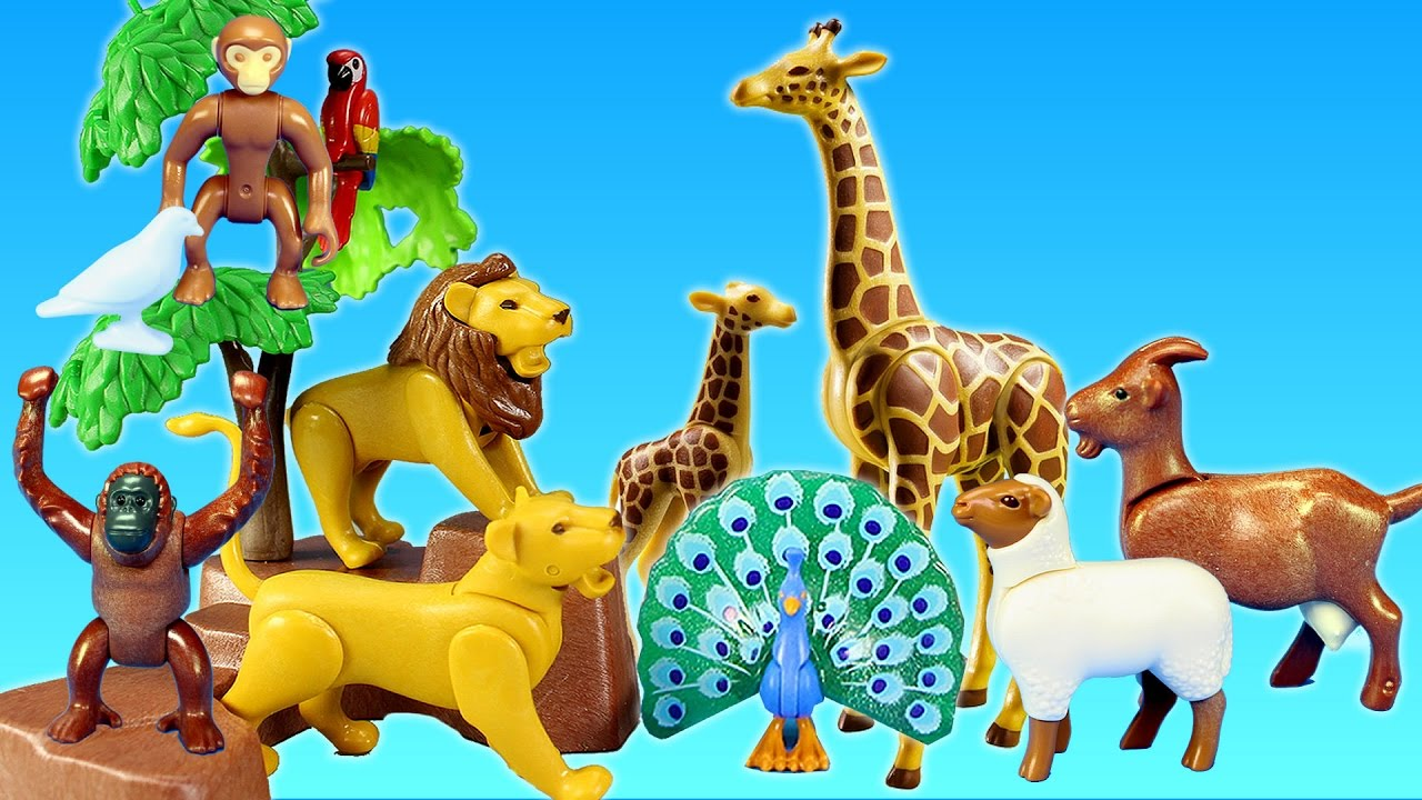 Image of: Stuffed Animal Playmobil City Life Toy Wild Animals Large Zoo Building Sets Videos Youtube Youtube Playmobil City Life Toy Wild Animals Large Zoo Building Sets Videos