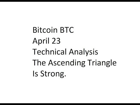 Bitcoin BTC - April 23 Technical Analysis - The Ascending Triangle Is Strong.