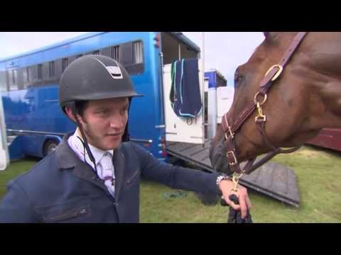 Showjumping  -  Tim Page on his horse Quentin Tarantino