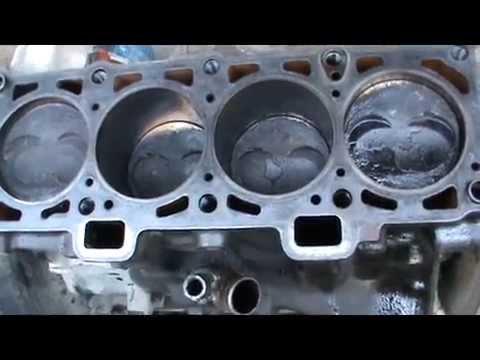 Доработанные поршни после работы в двигателе