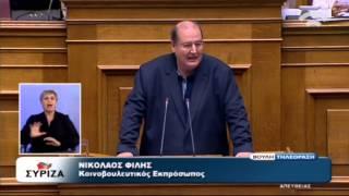 Ν. Φίλης: Να μην ολοκληρώσουμε το πραξικόπημα των Βρυξελλών