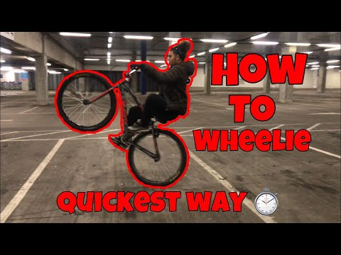 How to wheelie ANY bike in only 3 steps (quickest way)