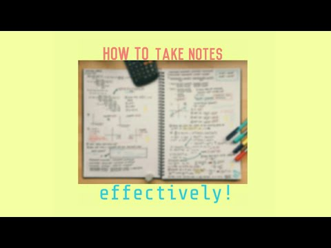 How I take notes effectively! | Philippines
