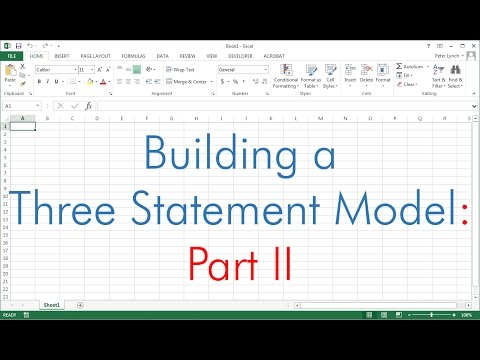 Building a Three Statement Financial Model (Part II of II)