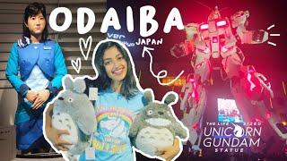 ODAIBA Tokyo   Unicorn Gundam Full Transformation   Human-Robot   Travel Vlog   Indian in Japan