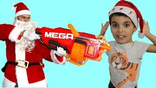 Santa Claus with the mega nerf , videos for kids ,les boys tv2