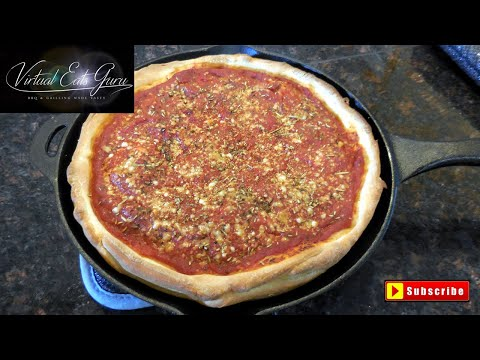 Chicago Style Deep Dish Pizza Pie Recipe
