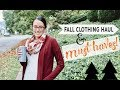2018 FALL CLOTHING HAUL 🍁 MY FALL MUST HAVES! | THRIFTED CLOTHES