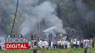 Un avión de Cubana de Aviación con 113 personas a bordo se estrelló cerca del aeropuerto de La Haban
