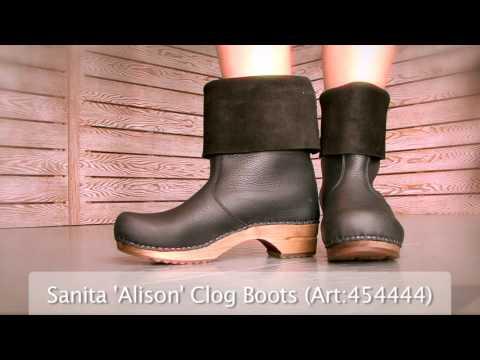 5263e1242 Sanita  Alison  Roll-top Clog Boots (Art 454444) at World of Clogs ...