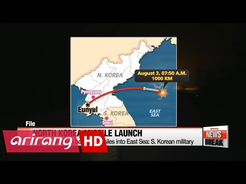 N. Korea fires two ballistic missiles into East Sea: S. Korean military
